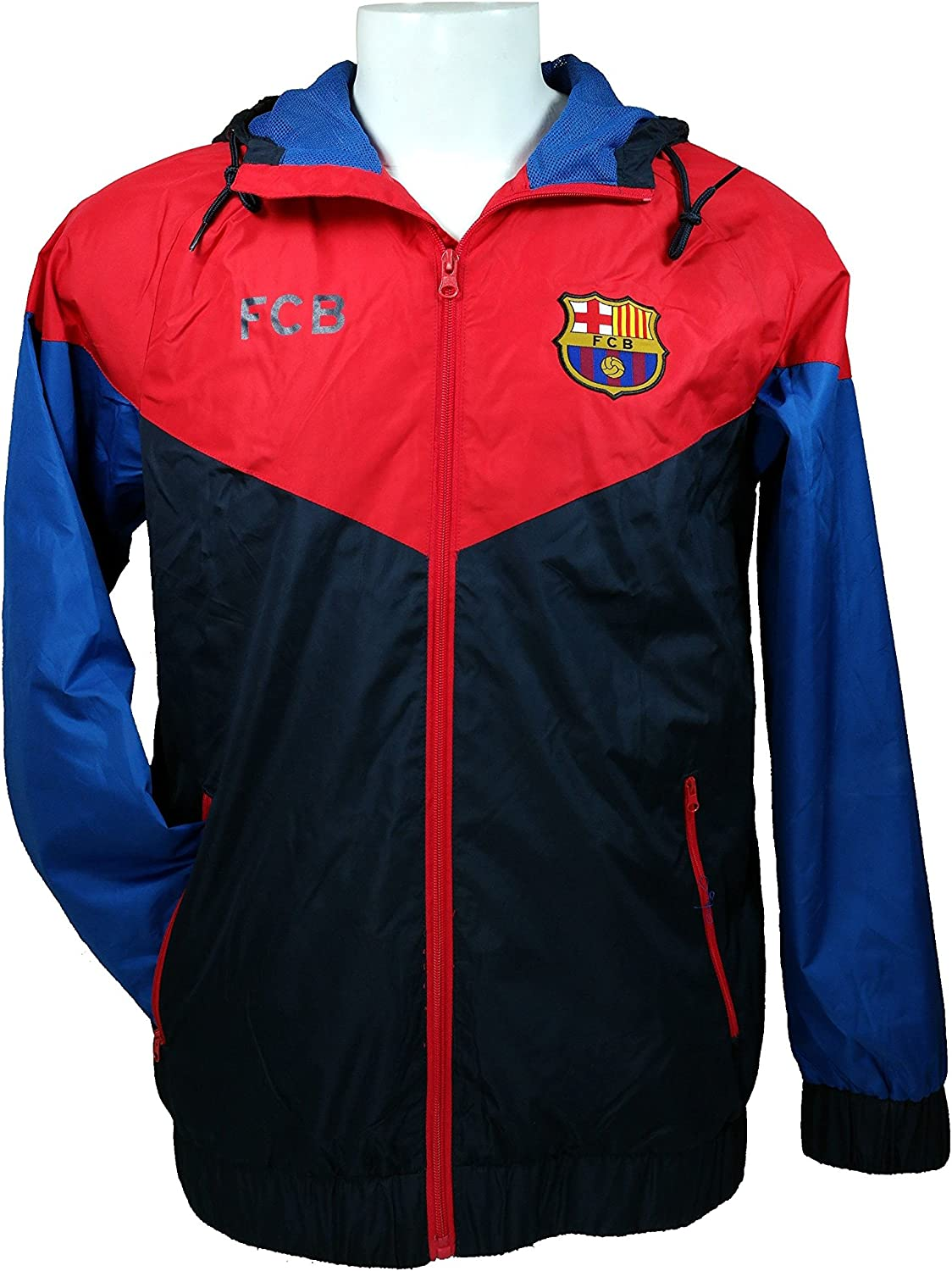 Amazon Com Fc Barcelona Official License Soccer Windbreaker Jacket Football Adult Size 014 Large Clothing