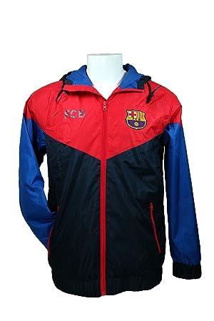 Licencia oficial del FC Barcelona Fútbol Windbreaker chaqueta de fútbol  adulto tamaño 014 169f2dc58bc