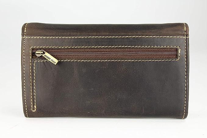 BELLI Vintage Leder Damen Geldbörse braun gemustert Belli