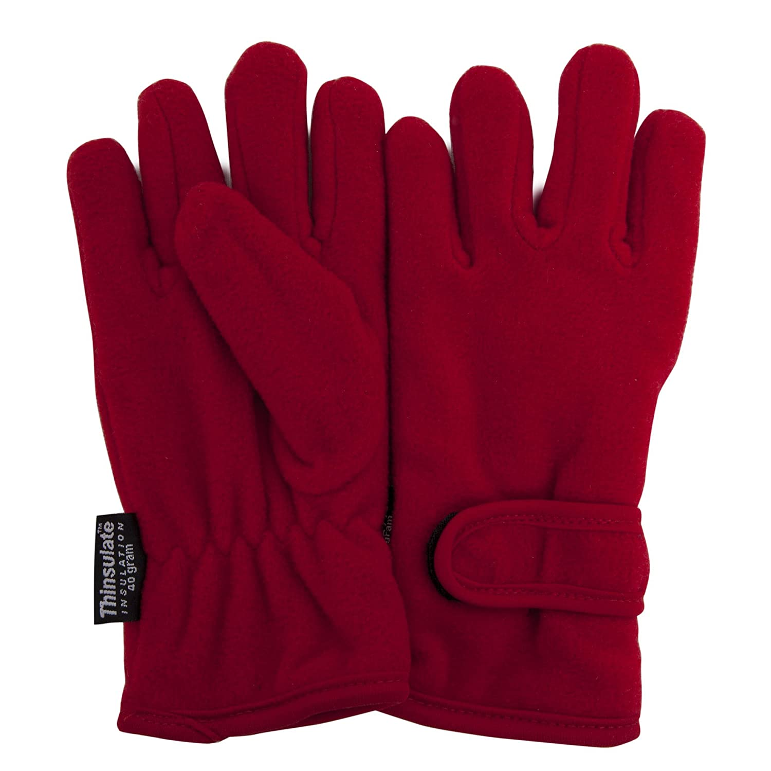 FLOSO® Girls Childrens/Kids Plain Thermal Thinsulate Fleece Gloves (3M 40g)