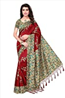 Ishin Art Blended Mysore Printed Women's Saree Sari With Tassels