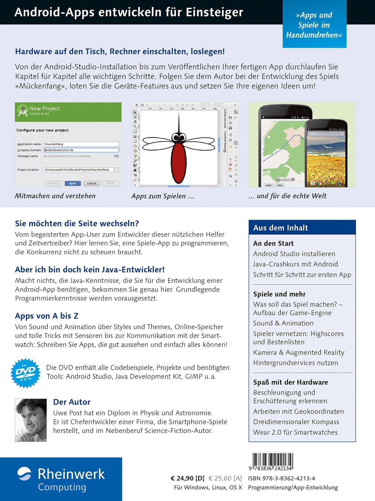 Android-Apps entwickeln für Einsteiger: Eigene Apps und Spiele mit ...