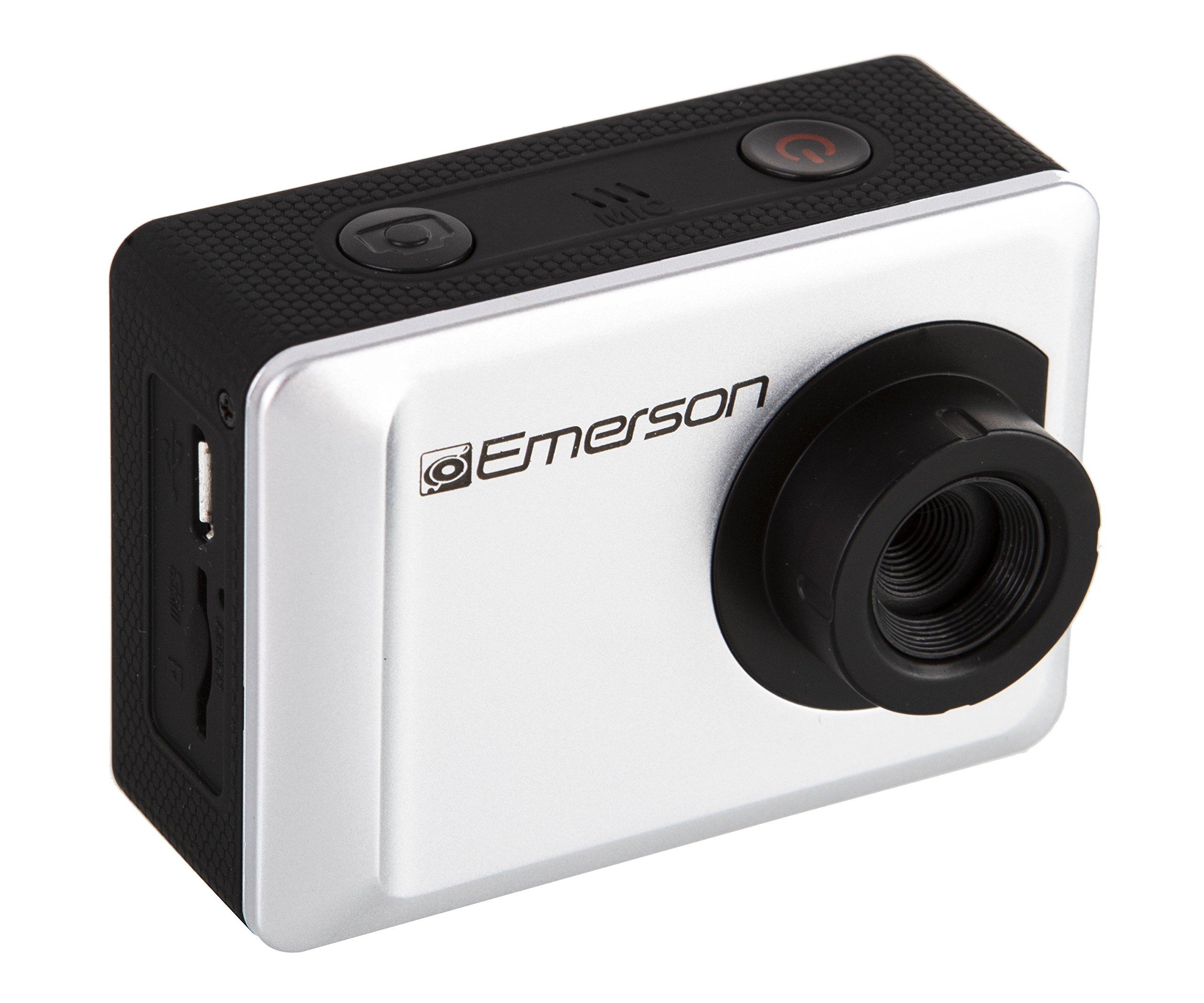 Emerson EVC655SL 1080P HD Action Cam, 2'' Display, 12 megapixel