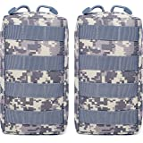 Tacticool 2 Pack Molle Pouches - Tactical Compact Water-Resistant EDC Pouch