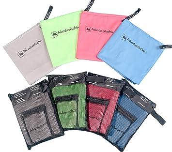 AdventureAustria - Pack de 2 Toallas de Microfibra para Deporte - El Doble Juego Incluye Toalla