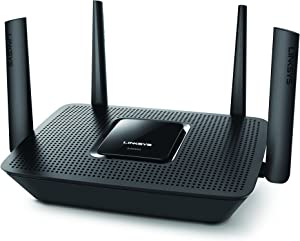 Linksys EA8300 Tri-Band Wi-Fi Router for Home (Max-Stream AC2200 MU-MIMO Fast Wireless Router), Black