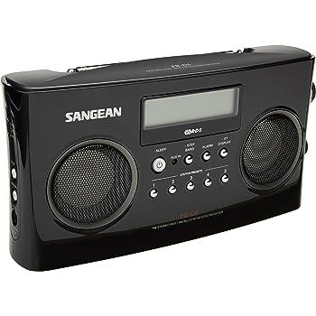 amazon com sangean wr 2 fm rbds amwooden cabinet digital tuning rh amazon com