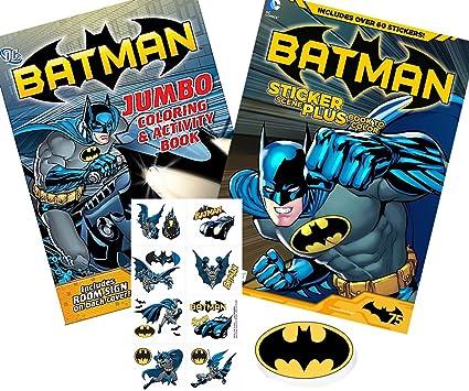 Batman Bundle Of 4 Coloring And Sticker Scene Book