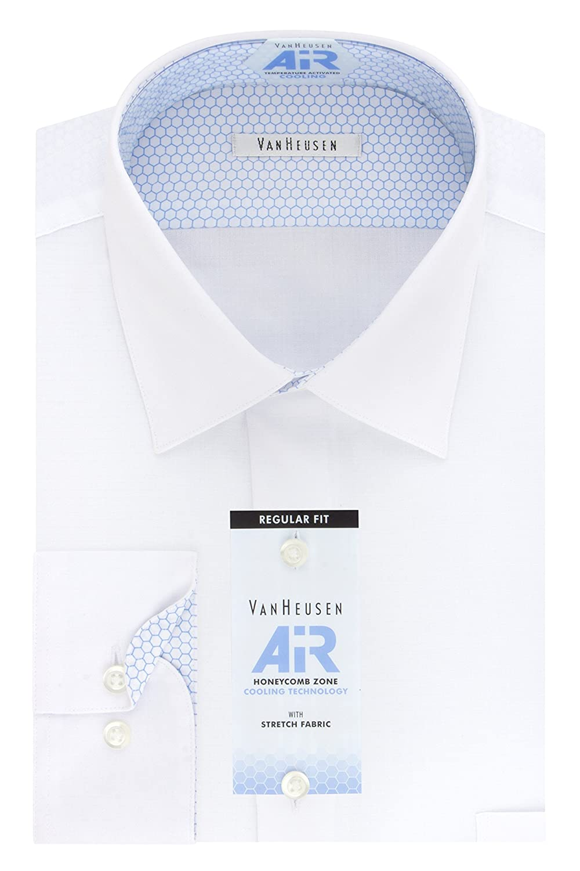 bb0f3ed01d Van Heusen Men's Air Regular Fit Solid Spread Collar Dress Shirt