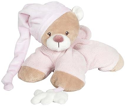 Nattou 860017 Milo y Lena - Oso de peluche, color rosa