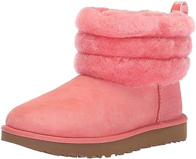 d6ef3e41e5c UGG Australian Boots Pink Fluff Mini Quited Boots (37 - Pink)