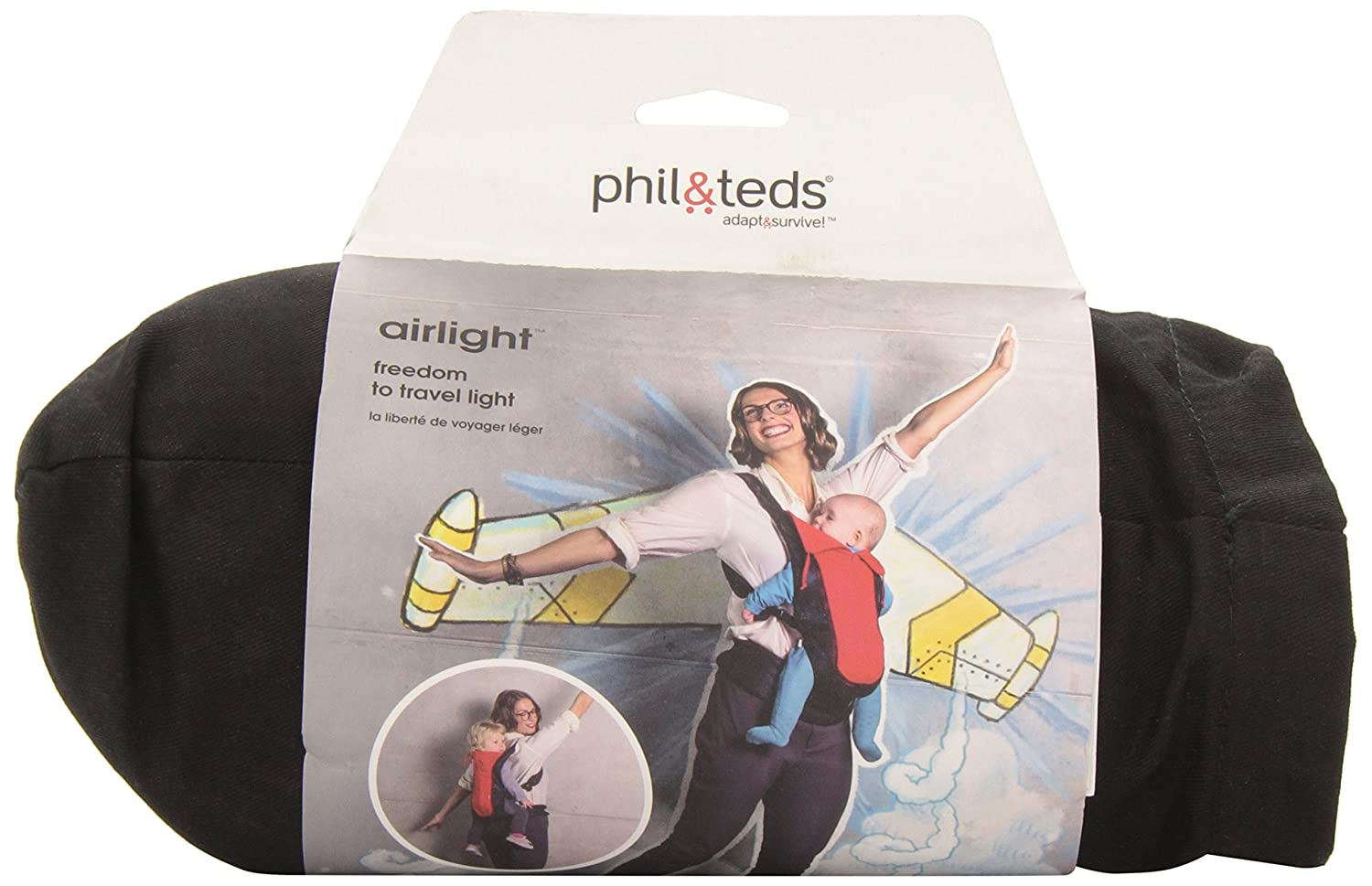phil teds Airlight Baby Carrier, Black