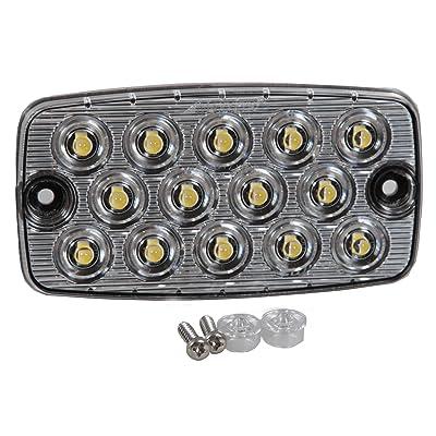 """Maxxima M42206 14 LED White Surface Mount Low Profile 0.4"""" Ultra Thin Backup/Courtesy Light: Automotive"""