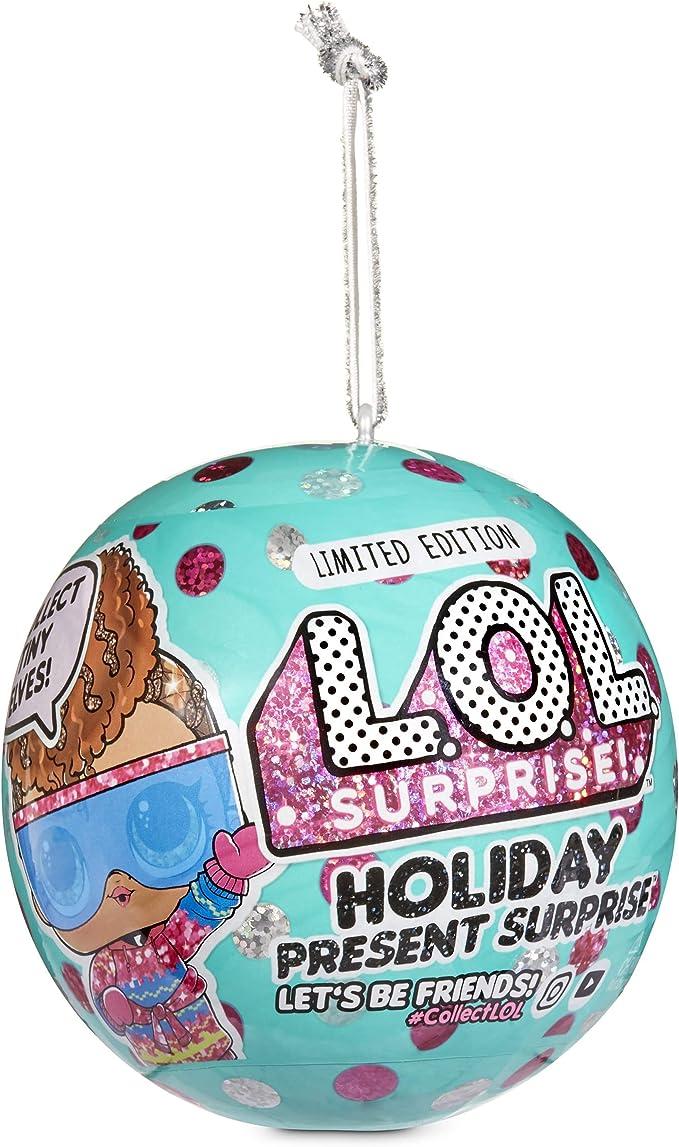 L.O.L. Surprise! Holiday Present Surprise Dolls with 7 Surprises Including Surprise Tiny Elves