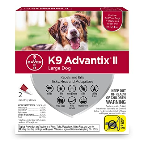 amazon com bayer k9 advantix ii flea tick and mosquito prevention rh amazon com