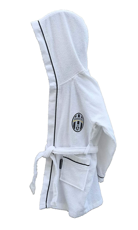tex family Accappatoio Bambino Ragazzo Originale Juve Juventus in MICROSPUGNA 12-14 Anni