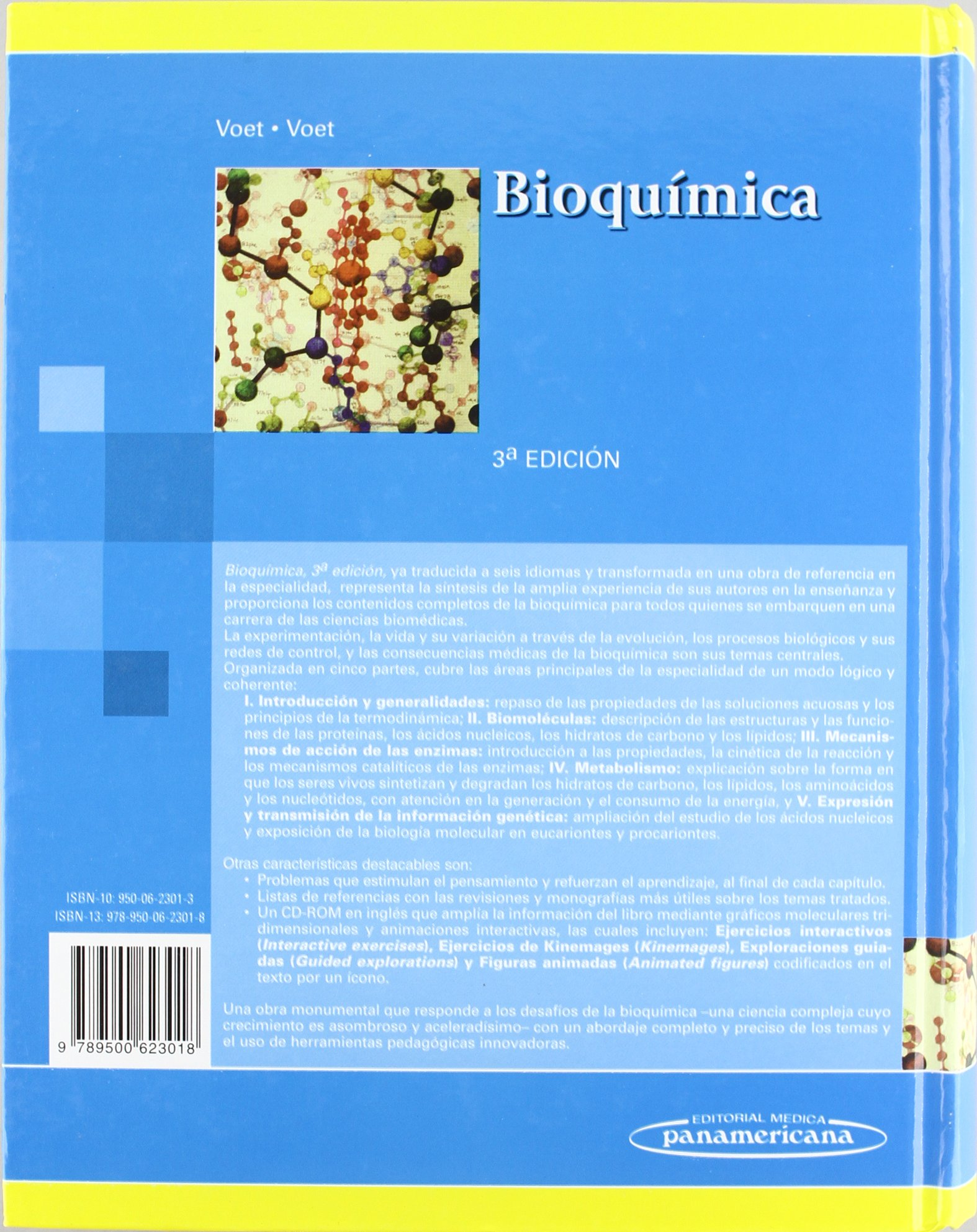 Bioquímica.(Incluye Cd-Rom): Amazon.es: Donald Voet, Judith G. Voet ...