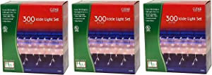 Noma/Inliten Holiday Wonderland's 300 Icicle Light Set (Pack of 3)