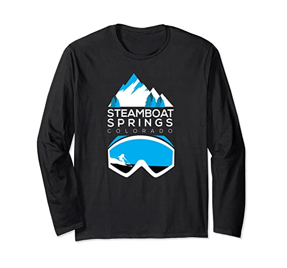 88a41c6b2e Amazon.com  Steamboat Springs t shirt Colorado ski   snowboard clothing   Clothing