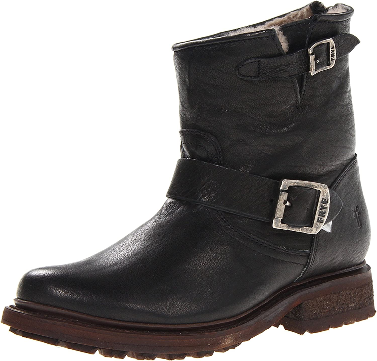 FRYE Women's Valerie Shearling 6 Boot B00BGBRD66 7.5 B(M) US|Black-75016