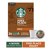 Deals on 96-Count Starbucks Pike Place Roast Coffee K-Cup Pods