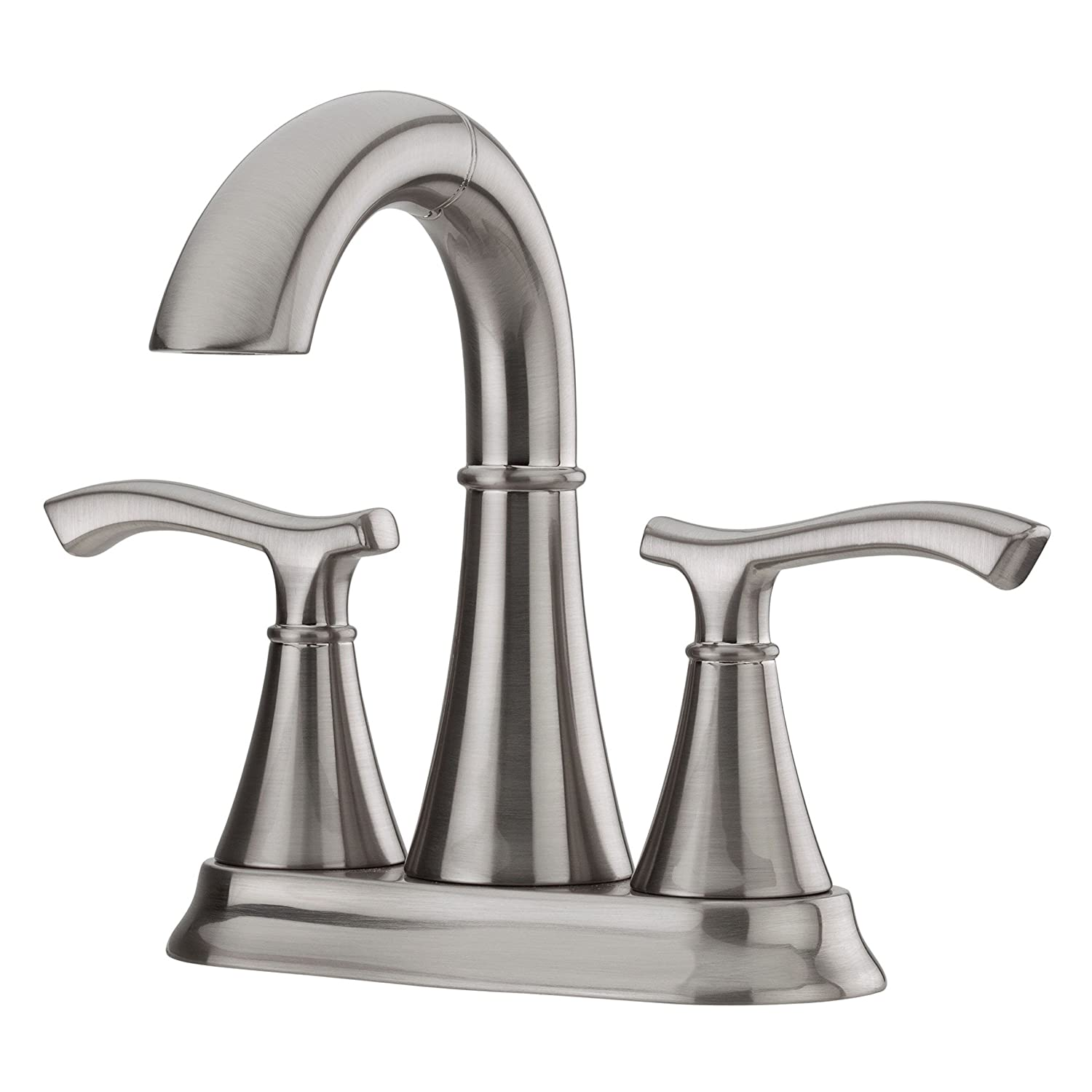 "Pfister LF-548-IDKK Ideal 2-Handle 4"" Centerset Bathroom Faucet in Brushed Nickel, 1.2gpm low-cost"