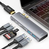 NIMASO Hub USB C MacBook Pro Air M1, 7 en 2 Adaptador USB C Hub a 4K HDMI, Thunderbolt 3 (PD 100W), USB C 3.0 & 2 * USB…