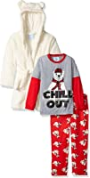 Bunz Kidz Boys' Chill Out Robe and 2pc Pajama Set