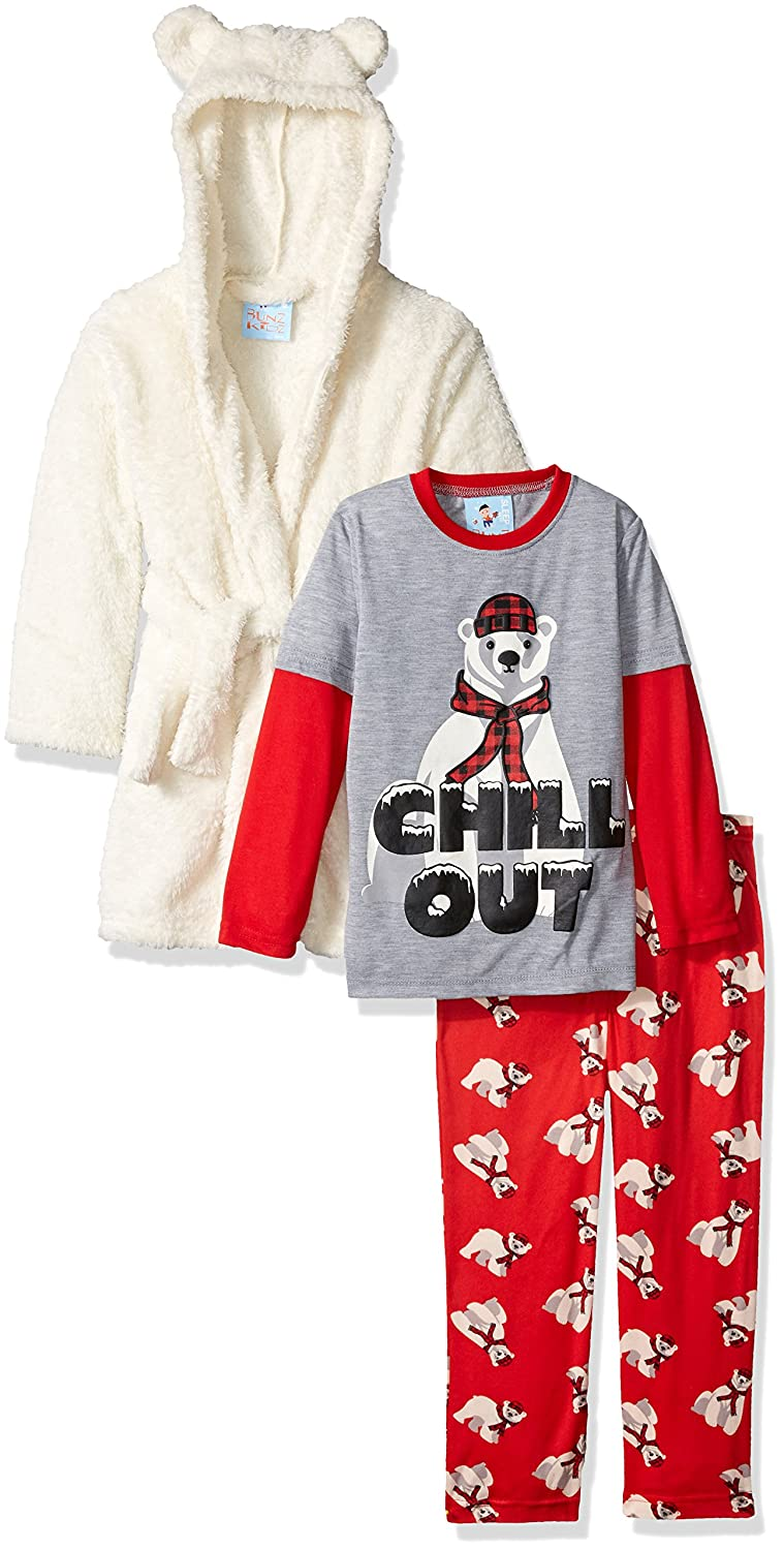 Bunz Kidz Boys' Chill Out Robe and 2pc Pajama Set