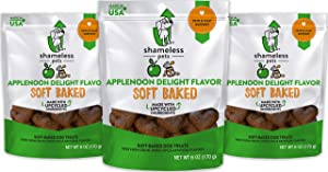 SHAMELESS PETS Soft-Baked Dog Treats, 6oz   Clean, Natural, Grain-Free Dog Biscuits   Provides Health Benefits for All Dogs   Made w/Upcycled & Superfood Ingredients in USA