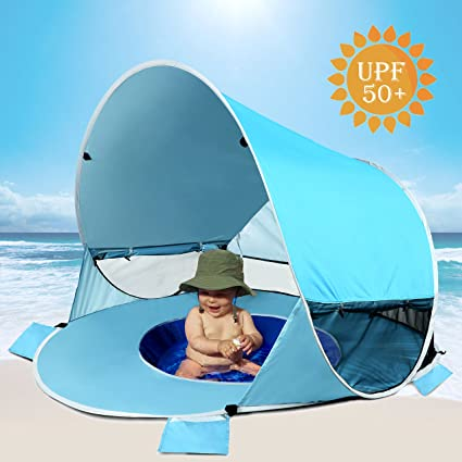 online store fef8e 203d9 [2019 Upgraded] Baby Beach Tent-Pop Up Beach Tent with Pool Shade Cabana  Portable UV Sun Shelter