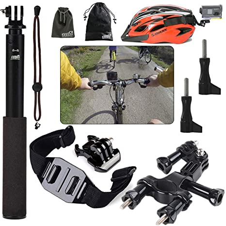 EEEKit 3-in-1 Cycling Solution Kit for GoPro (Black/Silver) Mounts & Accessories at amazon