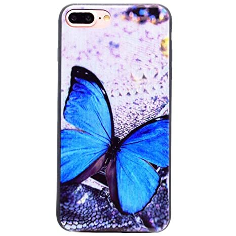 custodia iphone 7 farfalla blu