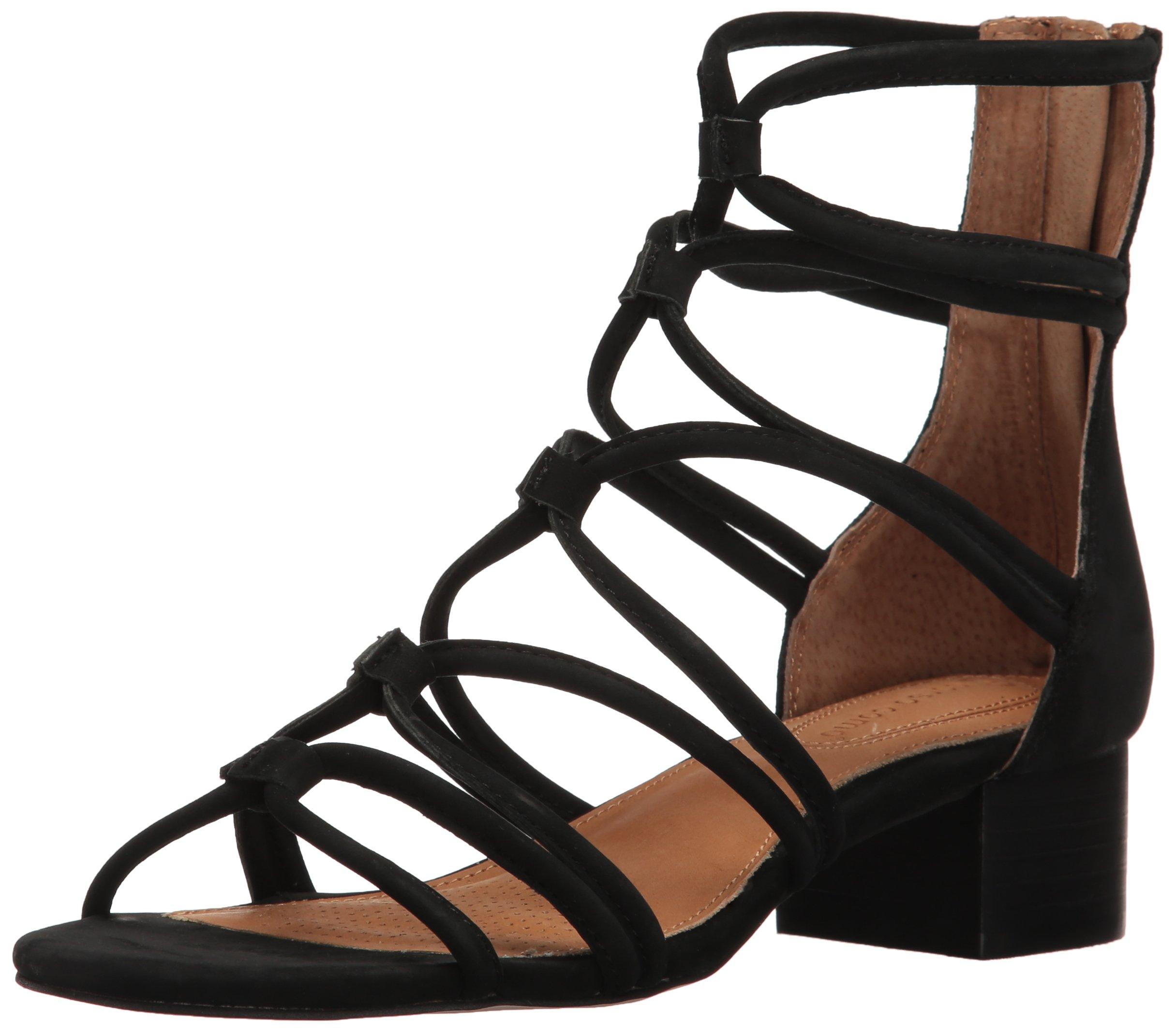 Corso Como Women's Jenkins Heeled Sandal, Black Nubuck, 8 M US