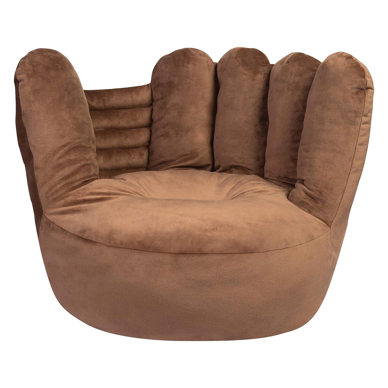 Brown Renewed Trend Lab Childrens Plush Glove Character Chair Seating Kids Baseball