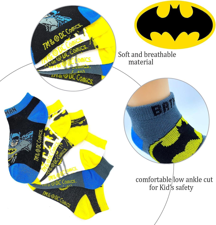Kids Toddler Boys Superheroes DC comics Batman Basic Ankle Cut Fashion Cozy Socks 6pairs Fit 2T-4T