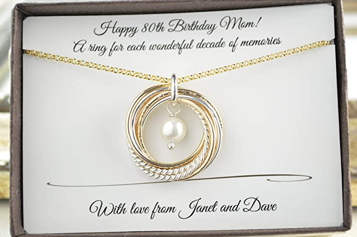 Amazon 80th Birthday Gift For Mom And Grandma 8 Mixed Metals
