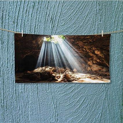 Toalla de mano de acrílico personalizable con imagen de foto o texto para playa, piscina o baño.