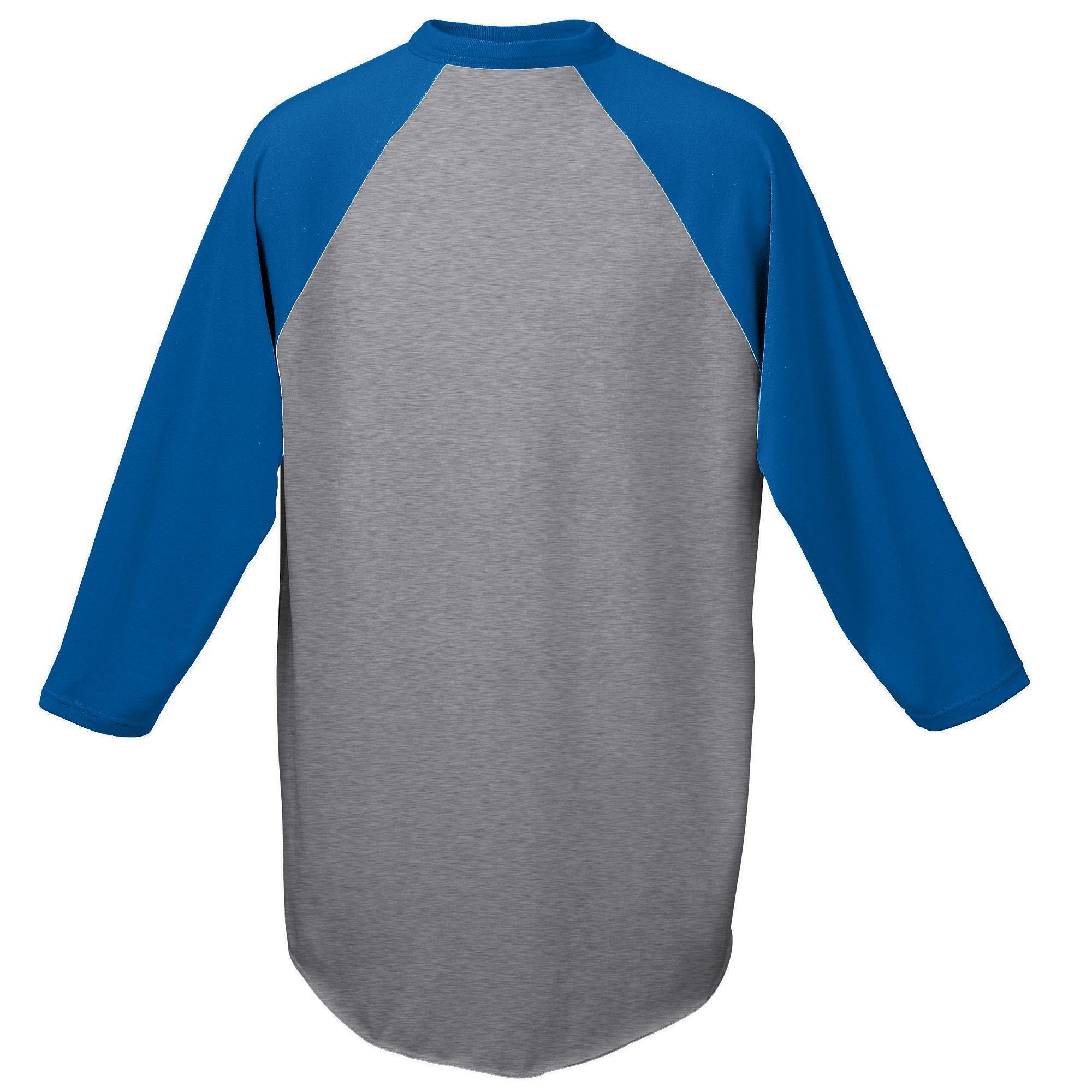 Augusta Sportswear Baseball Jersey 4XL Athletic Heather/Royal by Augusta Sportswear