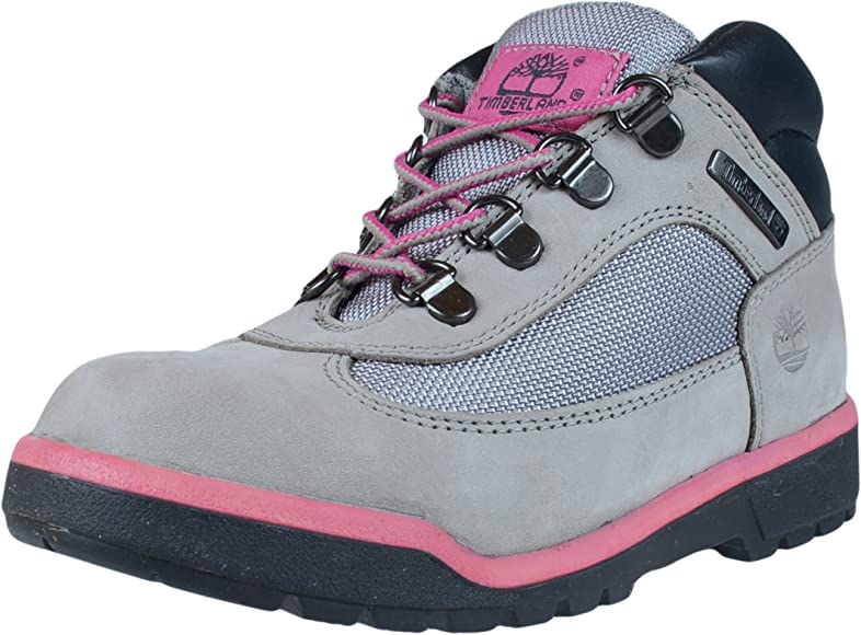 Field Boot Leather/Fabric, Grey/Pink