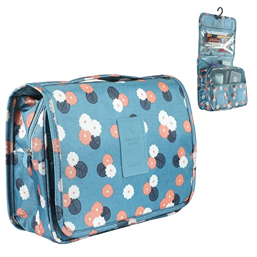 bff69cad71 Image Unavailable. Image not available for. Color  Zoevan Toiletry Cosmetic  Bag Portable Makeup Pouch Waterproof Travel Organizer