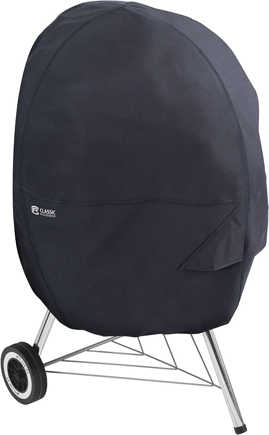 Classic Accessories 55-903-040401-EC Patio Kettle Grill Cover, Large, Black