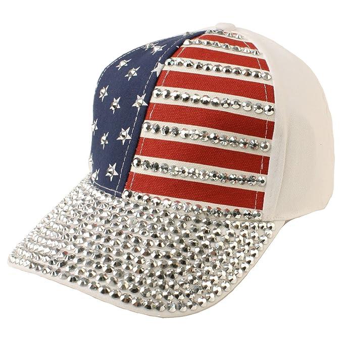 baseball caps hotline bling cute flag jewel rhinestone studs ball cap hat adjustable navy amazon women clothing store wholesale