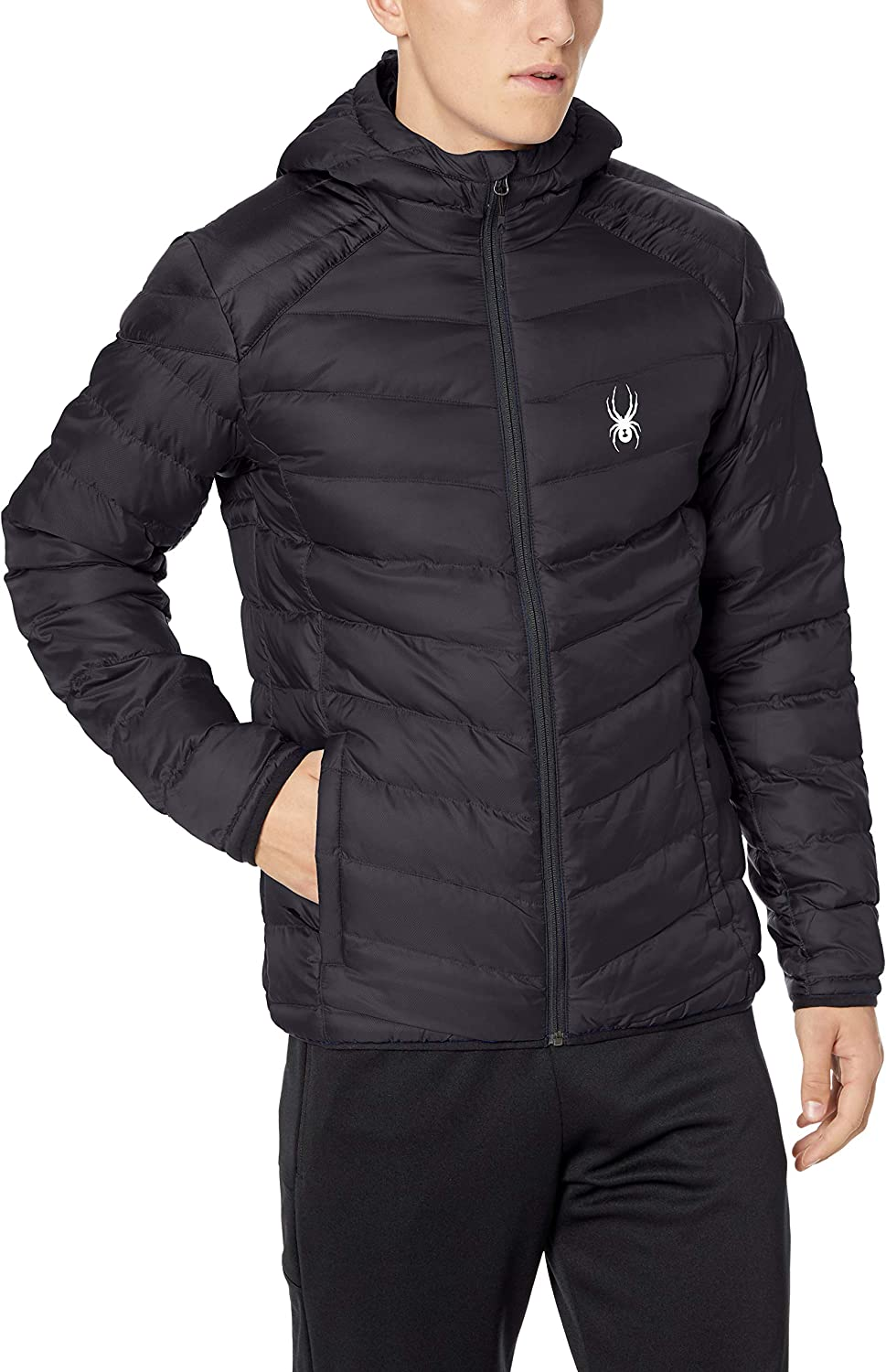 Black//Black Spyder Mens Geared Synthetic Down Jacket XX-Large