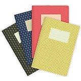 etmamu 549 4er-Set Notizhefte Muster Japan A5, 32 Blatt liniert