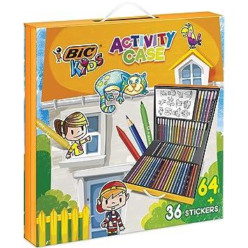 Kit Coloriage Fille.Bic 961558 Mallette De Coloriage 24 Crayons De Couleurs 24 Feutres