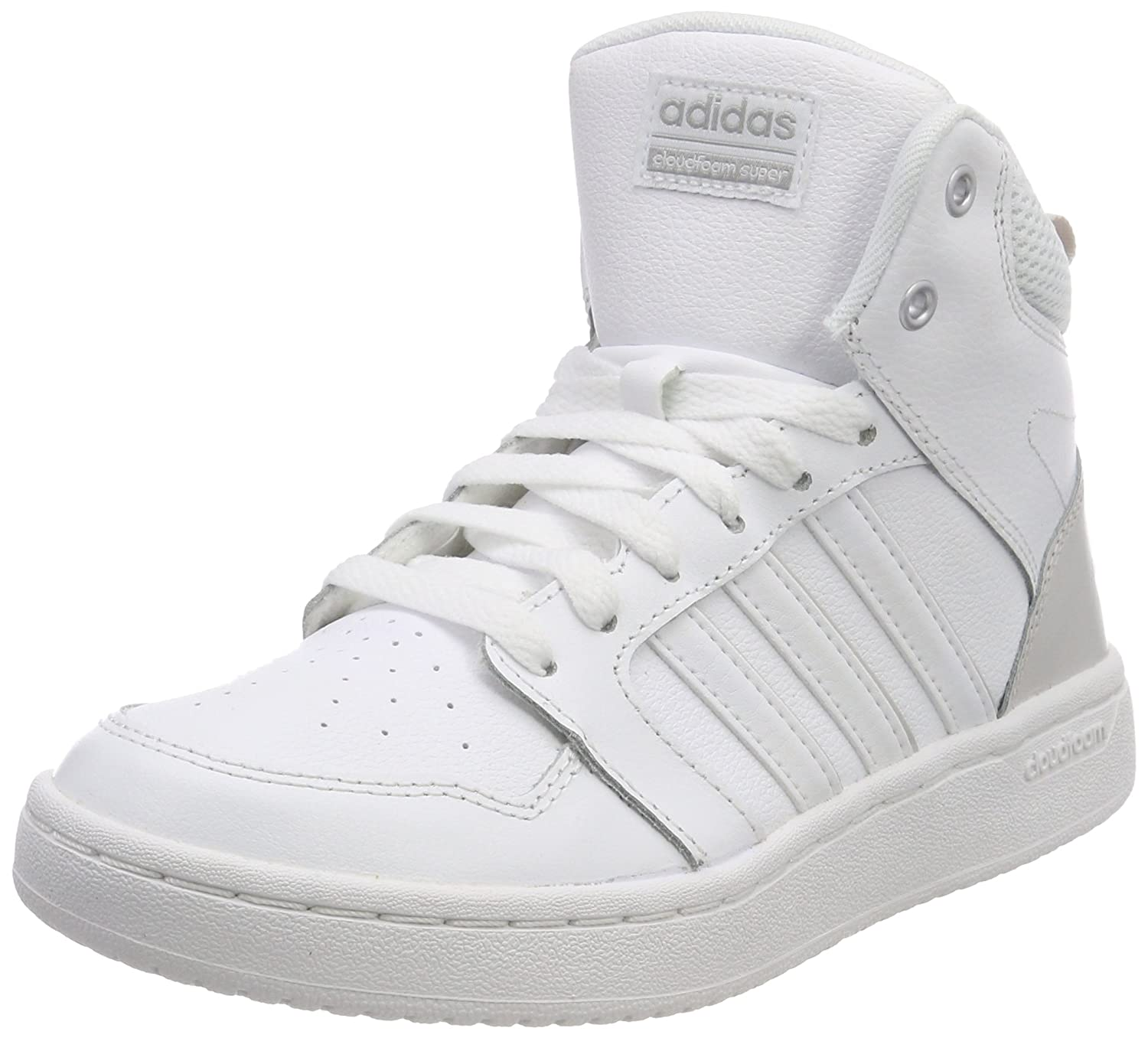 on sale 3c409 9c451 adidas Women s s Cloudfoam Super Hoops Mid Schuh Basketball Shoes White  Ftwwht Greone 5 UK  Amazon.co.uk  Shoes   Bags