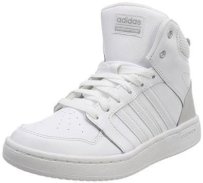 newest e196e 2fcbb adidas Womens Cloudfoam Super Hoops Mid Schuh Basketball Shoes, White  FtwwhtGreone, 5