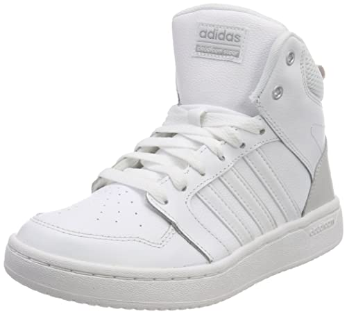 Adidas Hoops 2.0 Mid W, Zapatillas de Deporte para Mujer, Blanco (Ftwbla/Ftwbla/Griuno 000), 38 EU adidas