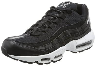 Nike Air Max 95 PRM, Herren Sneakers,Schwarz(Blackchrome black off White),42.5EU (8 UK)